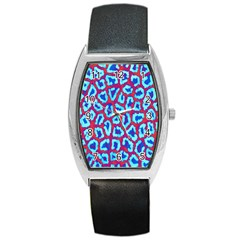 Animal Tissue Barrel Style Metal Watch