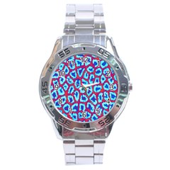 Animal Tissue Stainless Steel Analogue Watch