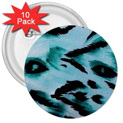 Animal Cruelty Pattern 3  Buttons (10 Pack)