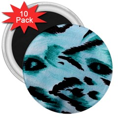 Animal Cruelty Pattern 3  Magnets (10 Pack)