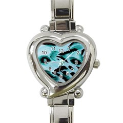 Animal Cruelty Pattern Heart Italian Charm Watch
