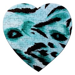 Animal Cruelty Pattern Jigsaw Puzzle (Heart)
