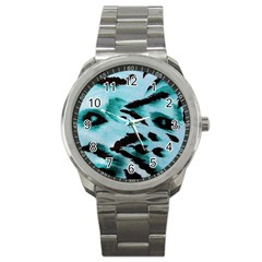 Animal Cruelty Pattern Sport Metal Watch