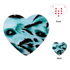 Animal Cruelty Pattern Playing Cards (heart)