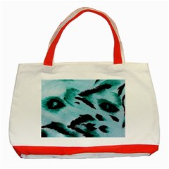 Animal Cruelty Pattern Classic Tote Bag (red)