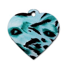 Animal Cruelty Pattern Dog Tag Heart (two Sides)
