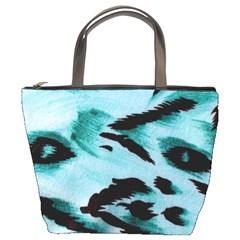 Animal Cruelty Pattern Bucket Bags