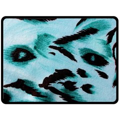 Animal Cruelty Pattern Fleece Blanket (large)