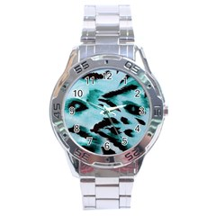 Animal Cruelty Pattern Stainless Steel Analogue Watch