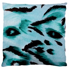 Animal Cruelty Pattern Large Flano Cushion Case (two Sides)