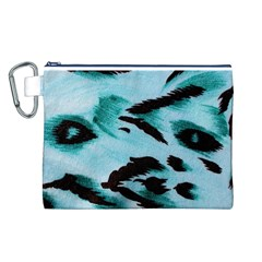 Animal Cruelty Pattern Canvas Cosmetic Bag (l)