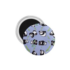 Panda Tile Cute Pattern Blue 1 75  Magnets