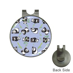 Panda Tile Cute Pattern Blue Hat Clips With Golf Markers