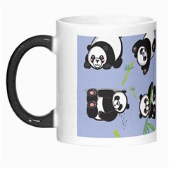 Panda Tile Cute Pattern Blue Morph Mugs