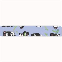 Panda Tile Cute Pattern Blue Small Bar Mats