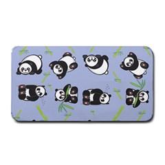 Panda Tile Cute Pattern Blue Medium Bar Mats