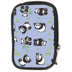 Panda Tile Cute Pattern Blue Compact Camera Cases