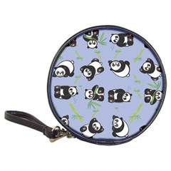 Panda Tile Cute Pattern Blue Classic 20 Cd Wallets
