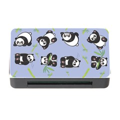 Panda Tile Cute Pattern Blue Memory Card Reader With Cf