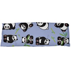 Panda Tile Cute Pattern Blue Body Pillow Case Dakimakura (two Sides)