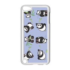Panda Tile Cute Pattern Blue Apple Ipod Touch 5 Case (white)