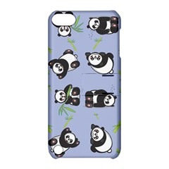 Panda Tile Cute Pattern Blue Apple Ipod Touch 5 Hardshell Case With Stand