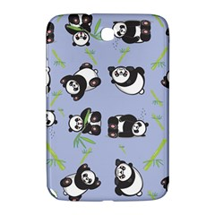 Panda Tile Cute Pattern Blue Samsung Galaxy Note 8 0 N5100 Hardshell Case
