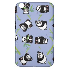 Panda Tile Cute Pattern Blue Samsung Galaxy Tab 3 (8 ) T3100 Hardshell Case