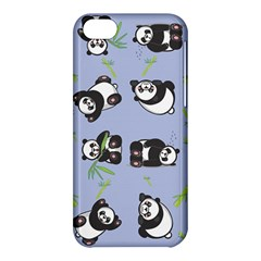 Panda Tile Cute Pattern Blue Apple Iphone 5c Hardshell Case