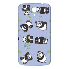Panda Tile Cute Pattern Blue Samsung Galaxy Mega I9200 Hardshell Back Case