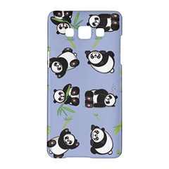Panda Tile Cute Pattern Blue Samsung Galaxy A5 Hardshell Case