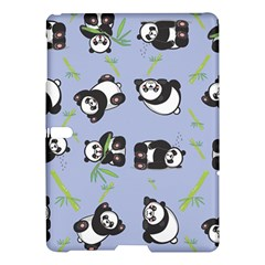 Panda Tile Cute Pattern Blue Samsung Galaxy Tab S (10 5 ) Hardshell Case