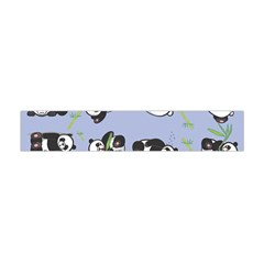 Panda Tile Cute Pattern Blue Flano Scarf (Mini)