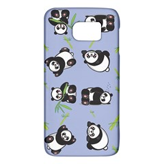 Panda Tile Cute Pattern Blue Galaxy S6