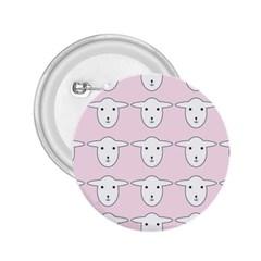 Sheep Wallpaper Pattern Pink 2 25  Buttons