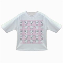 Sheep Wallpaper Pattern Pink Infant/toddler T Shirts