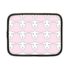 Sheep Wallpaper Pattern Pink Netbook Case (small)