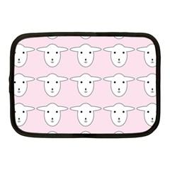 Sheep Wallpaper Pattern Pink Netbook Case (medium)