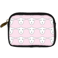Sheep Wallpaper Pattern Pink Digital Camera Cases