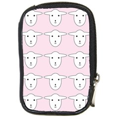 Sheep Wallpaper Pattern Pink Compact Camera Cases