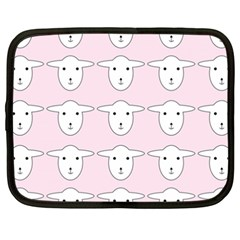 Sheep Wallpaper Pattern Pink Netbook Case (XXL)