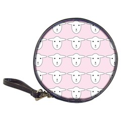 Sheep Wallpaper Pattern Pink Classic 20 Cd Wallets