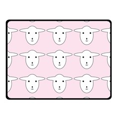 Sheep Wallpaper Pattern Pink Fleece Blanket (Small)