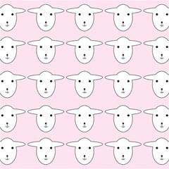 Sheep Wallpaper Pattern Pink Magic Photo Cubes