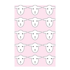 Sheep Wallpaper Pattern Pink Shower Curtain 48  x 72  (Small)