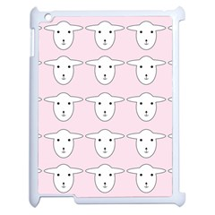 Sheep Wallpaper Pattern Pink Apple Ipad 2 Case (white)