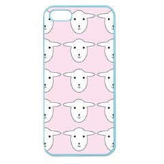 Sheep Wallpaper Pattern Pink Apple Seamless Iphone 5 Case (color)
