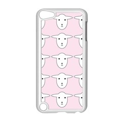 Sheep Wallpaper Pattern Pink Apple Ipod Touch 5 Case (white)