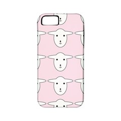 Sheep Wallpaper Pattern Pink Apple Iphone 5 Classic Hardshell Case (pc+silicone)