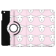 Sheep Wallpaper Pattern Pink Apple Ipad Mini Flip 360 Case
